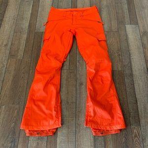 Burton Orange Women's Snow Pants